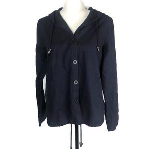 Liz Claiborne Ladies Linen Button Up Jacket Navy